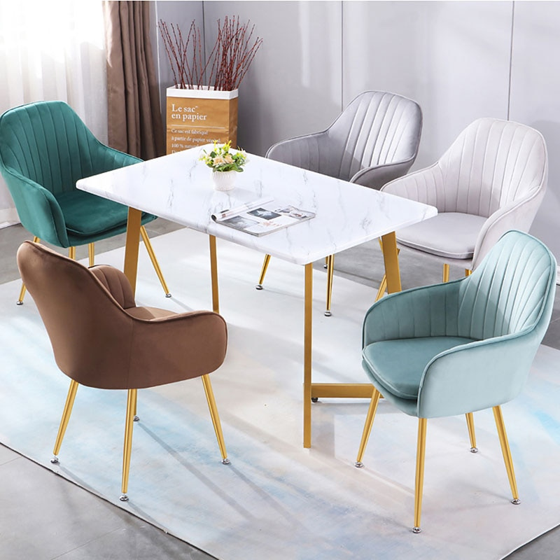 Chairs Living Room Dining Chair Kitchen Furniture Meubles Makeup Stool Desk Chair For Study Room European Chairs Home Decor Adversus